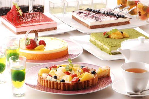 和の食材を使った6月のデザートブッフェのイメージ