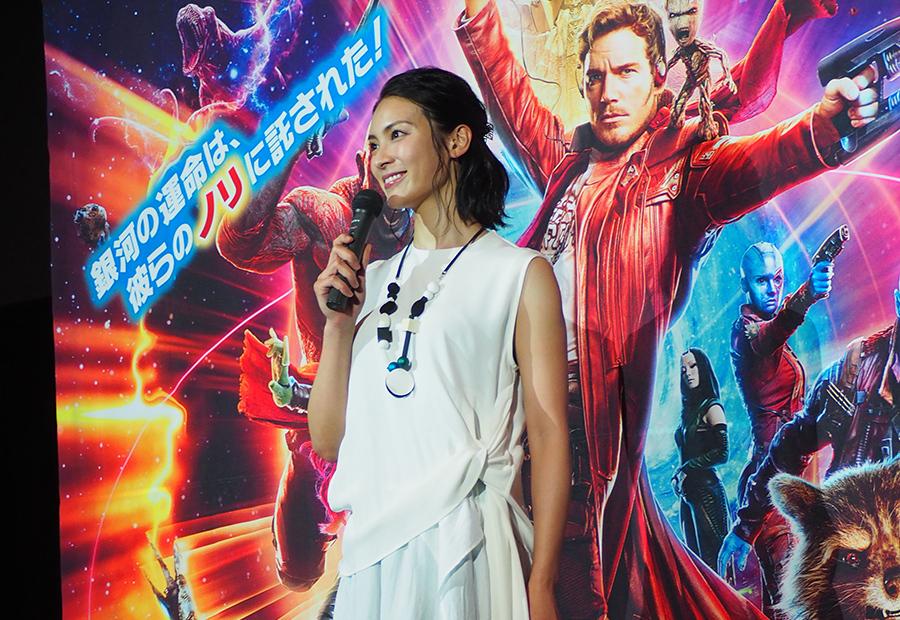 映画の公開イベントに登場した女優・秋元才加(10日・大阪市内)