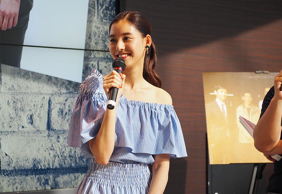 カンテレでおこなわれたドラマ『CRISIS』イベントに登場した女優・新木優子(22日・大阪市内)