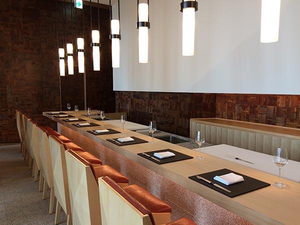 40階「蔵」の寿司カウンター