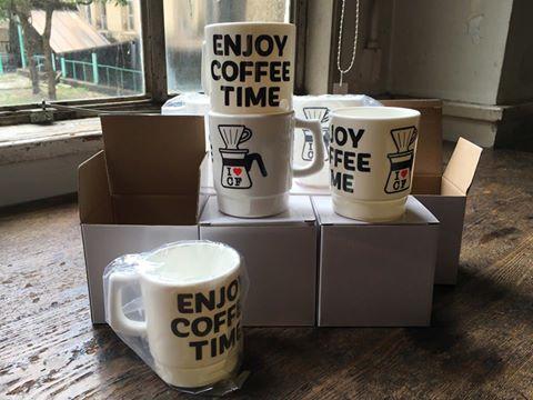 イベントオリジナルのマグカップもあり、コーヒー飲みくらべチケットとのセット券も人気