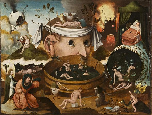 ヒエロニムス・ボス工房《トゥヌグダルスの幻視》1490-1500頃 ラサロ・ガルディアーノ財団蔵 ©Fundación Lázaro Galdiano