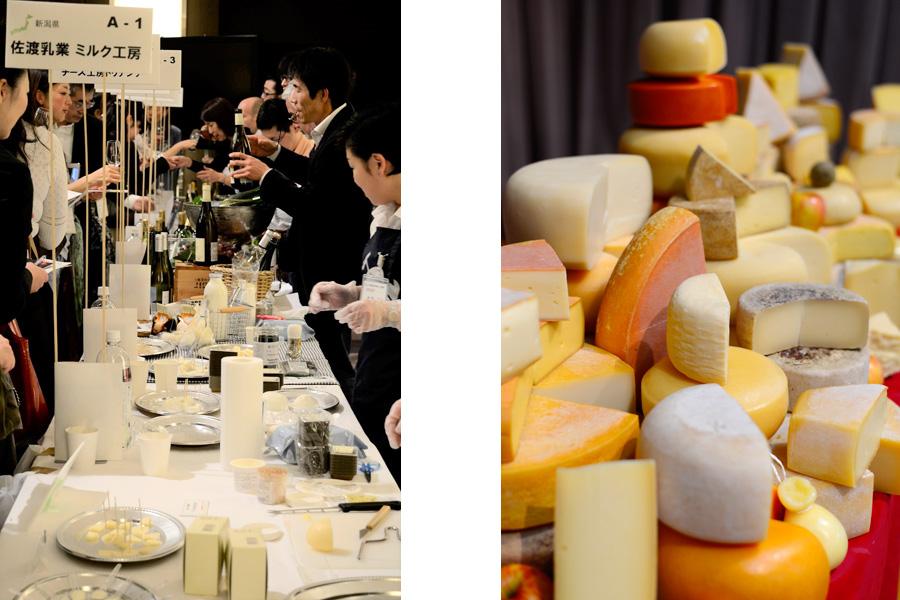 2008年から数年間、大阪で行われた『大阪チーズ食いだおれ』が復活。世界中のチーズがずらりと並ぶ、過去イベントの様子