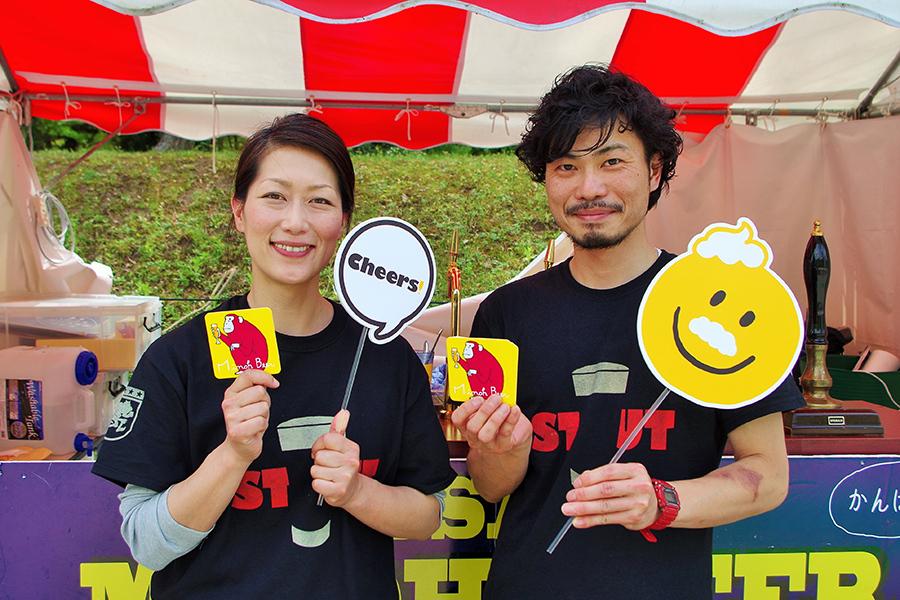 世界に認められるクラフトビールとなった「箕面ビール」の大下香緒里社長(左)