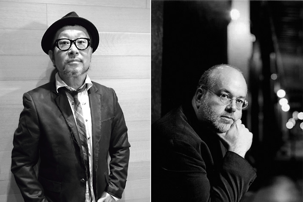 ジャズライブを開催する大江千里(左)、デイビット・バークマン