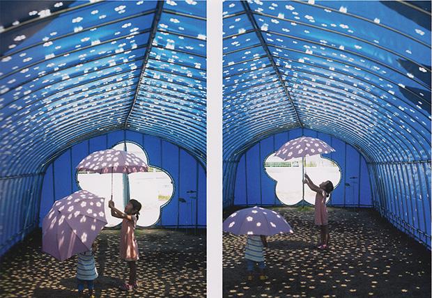 《Blossom Tunnel 光の花》内部の様子 2013年 撮影/鍵岡羅門