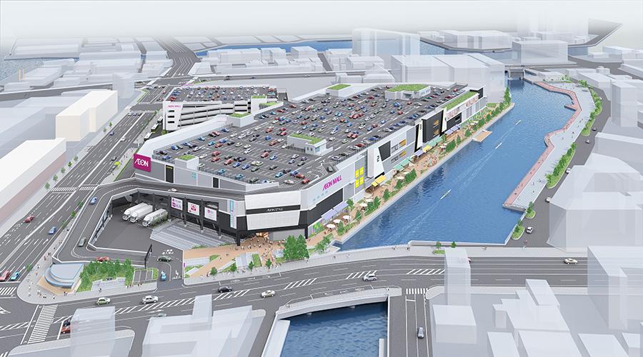 「神戸市中央卸売市場本場西側跡地」にオープンする「イオンモール神戸南」