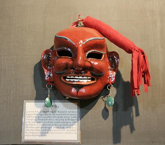 《アツァラの面》現代 木屑 ブータン王国国立博物館