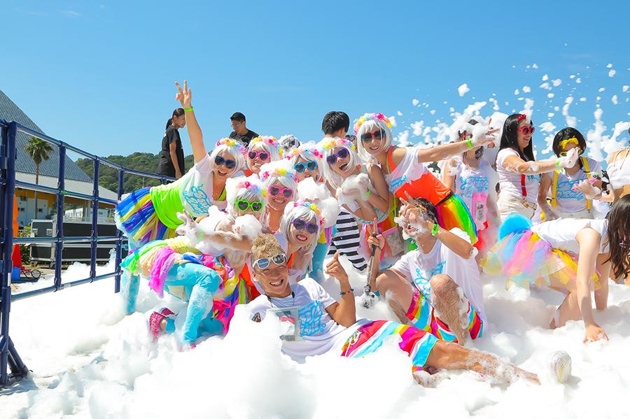 これまで15万人以上が泡まみれとなったファンランイベント『バブルラン』