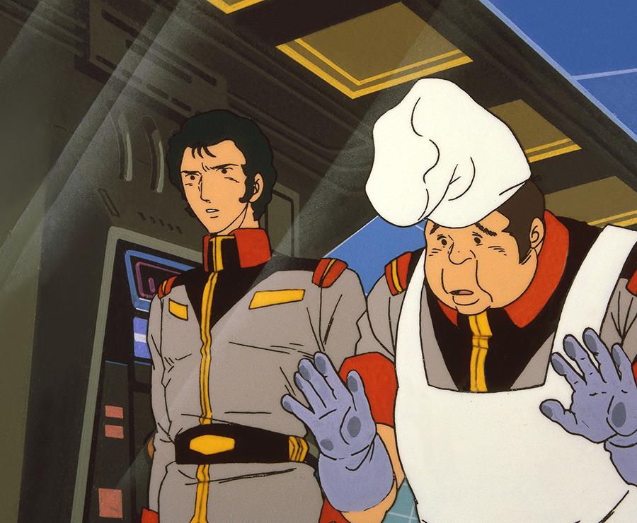 第16話にてブライト艦長に塩が無くなる可能性を示唆し補給に向かうよう進言するシーン © 創通・サンライズ