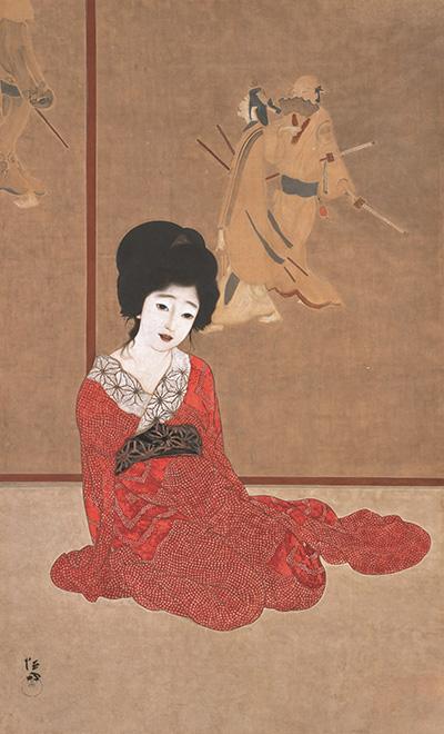 北野恒富《暖か》大正4年(1915)滋賀県立近代美術館