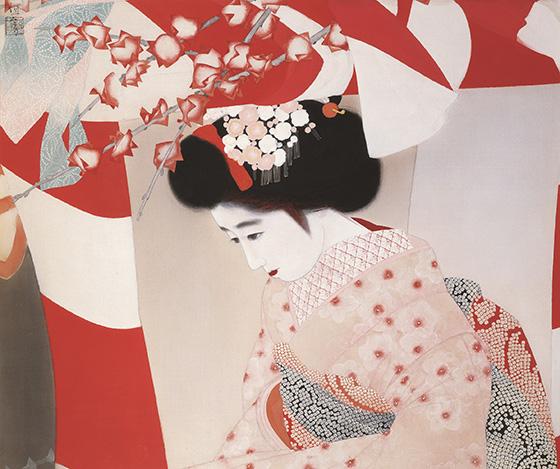 北野恒富《宝恵籠》昭和6年(1931)頃 大阪府立中之島図書館