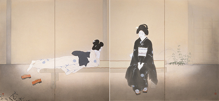 北野恒富《いとさんこいさん》昭和11年(1936)京都市美術館