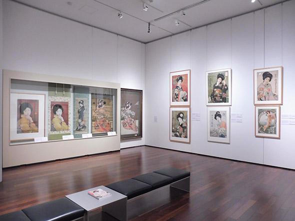 第4章「グラフィックデザイナーとして」より、北野恒富が手掛けたポスターの数々
