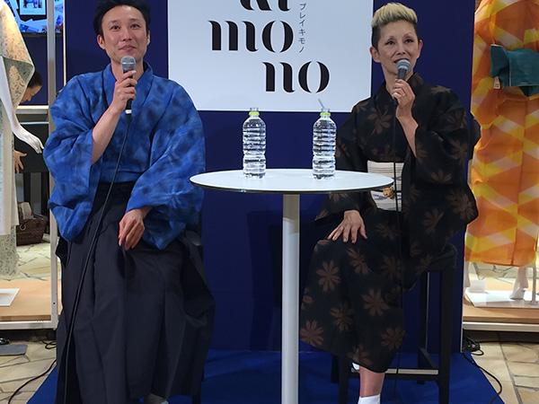 ファッションデザイナー・串野真也(左)と夏木マリ