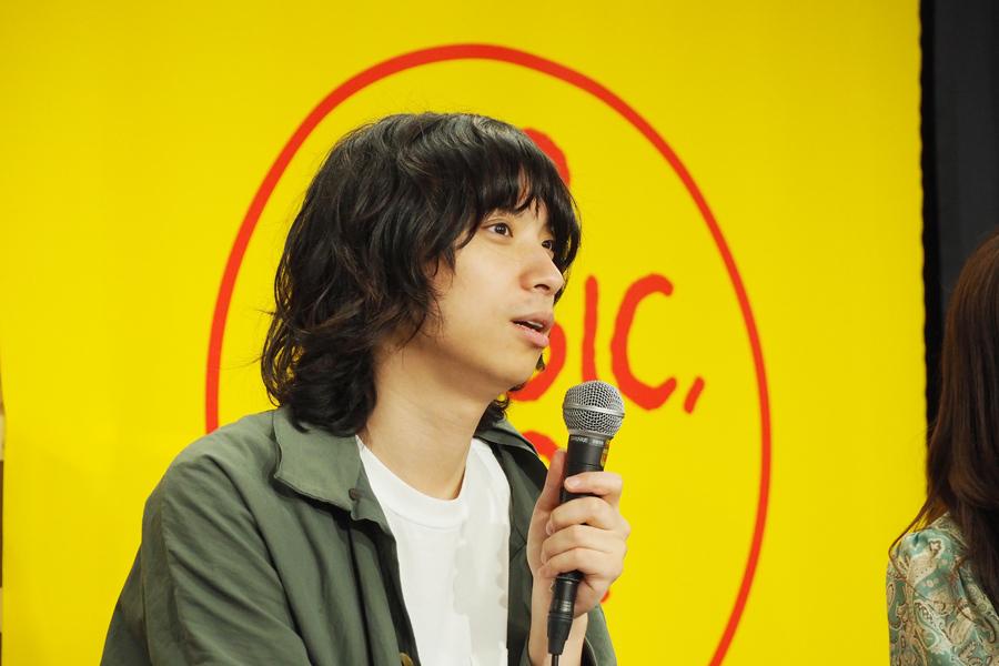 「音楽がんばります。『イト』はすごく手応えがあって、ちゃんと時間をかけて届けていけば伝わるんだと改めて思った」と話す尾崎世界観(11日、大阪市内)