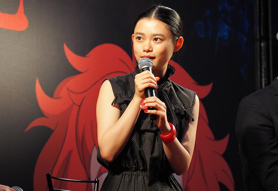 映画『メアリと魔女の花』のトークイベントに登場した女優の杉咲花(28日・大阪市内)