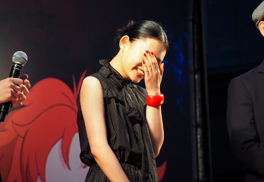 神木隆之介、米林宏昌監督に褒められ、照れる女優・杉咲花(28日・大阪市内)