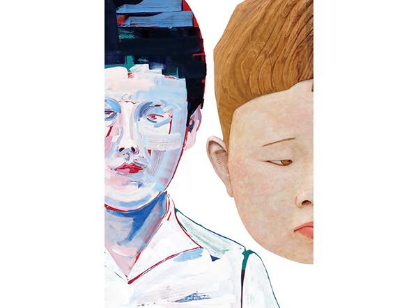 O JUN《矛》(部分) / 棚田康司《オー幼児》(部分)/ 2017年 ©O JUN / ©TANADA Koji / 撮影:宮島径 / Courtesy Mizuma Art Gallery
