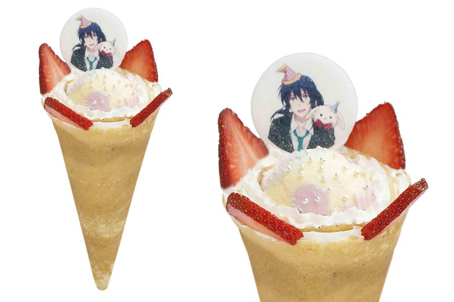 食べすすめると、きなこ味がする2周年アニバーサリークレープ750円(8月20日より販売開始)