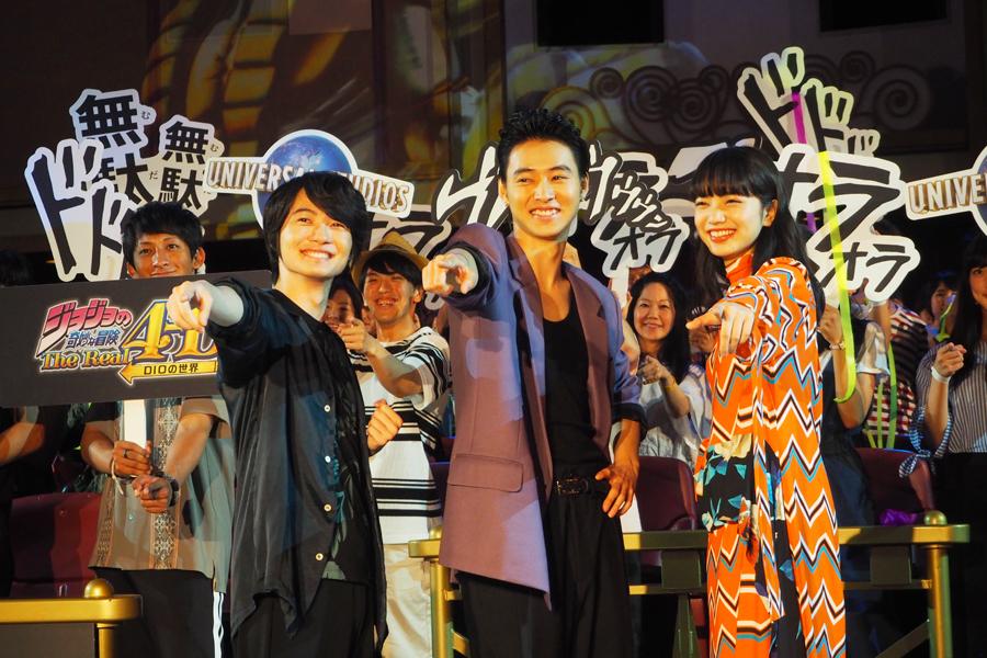 プレミアムイベントに登場した(左から)神木隆之介、山﨑賢人、小松菜奈