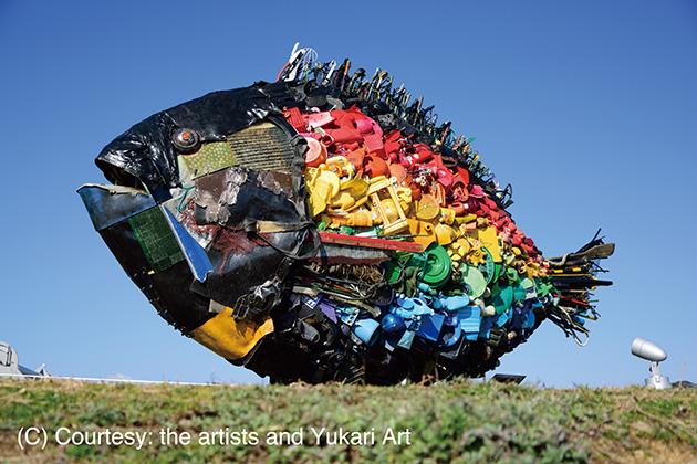 8月5〜6日に地黄・野間エリアでワークショップをおこなうアーティスト「淀川テクニック」の作品