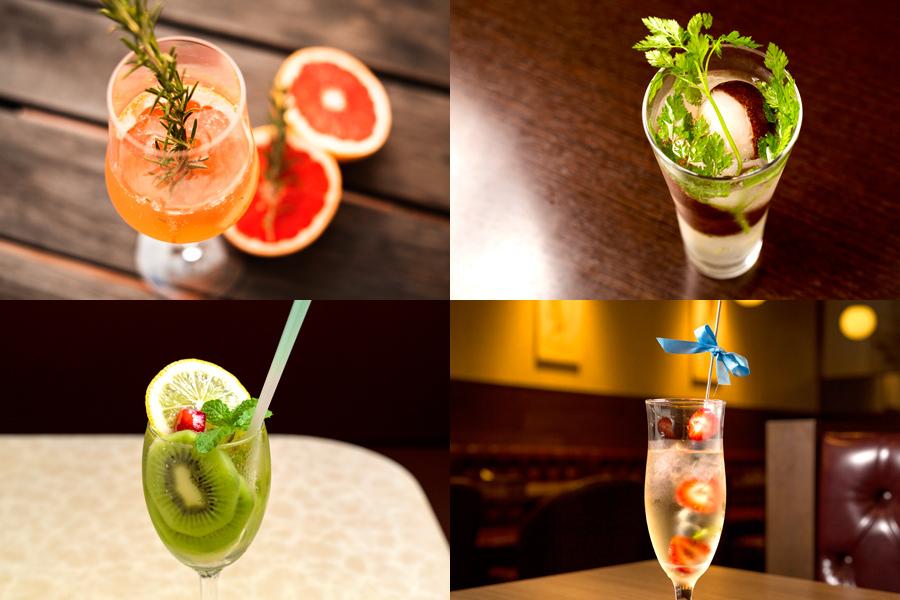 ストロベリー、ブルーベリー、ラズベリー、キウイ・・・フルーツたっぷりで飲みやすい