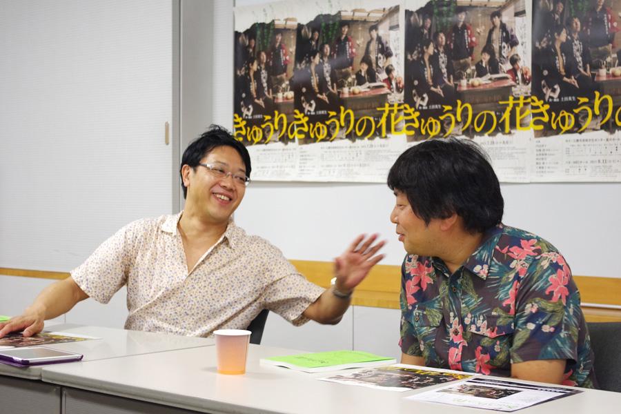 「ヨーロッパ企画も芝居の作り方はパス回し。勝手に共通項があると感じている」と土田