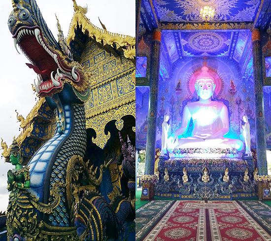 こちらは「青い寺」と呼ばれる「Wat Rong Suea(ワット ロンスー)」