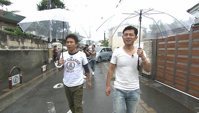 「エキスポシティ」を飛び出し、目的地へと向かうが、外は台風直撃の大豪雨。このまま台風でロケは強制終了か・・・