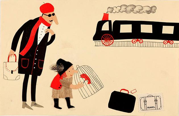 ラーシーン・ヘイリーエ(イラン)「鳥と少年と列車」
