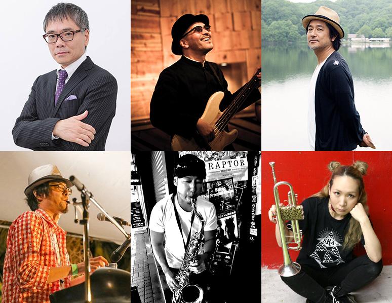 いとうせいこう、Watusi、會田茂一、龍山一平、コバヤシケン、SAKI