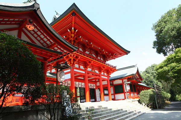 映画『ちはやふる』の撮影もおこなわれた「近江神宮」