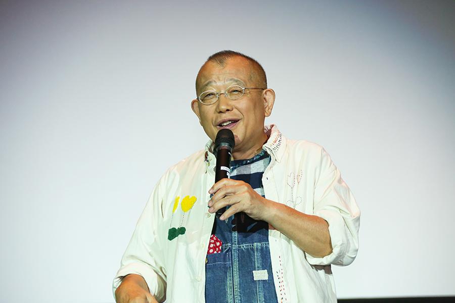 地元・兵庫県西宮市での舞台挨拶に登場した笑福亭鶴瓶(31日・西宮市内)