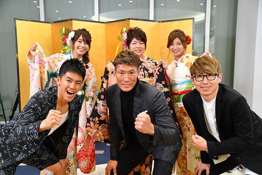番組新年会には、阪神の糸井選手、オリックスの金子投手が登場