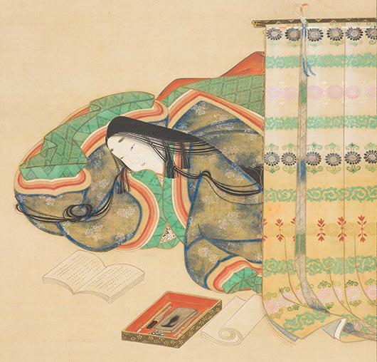 土佐光起《斎宮女御像》(部分)1幅 江戸時代・17世紀後半 個人