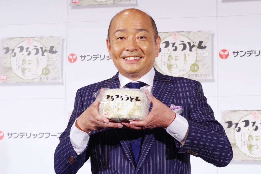 自らの顔がパッケージに印刷され「良い記念ですね」と山本アナ