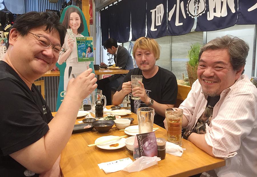 左からミルクマン斉藤、田辺ユウキ、春岡勇二の座談会メンバー