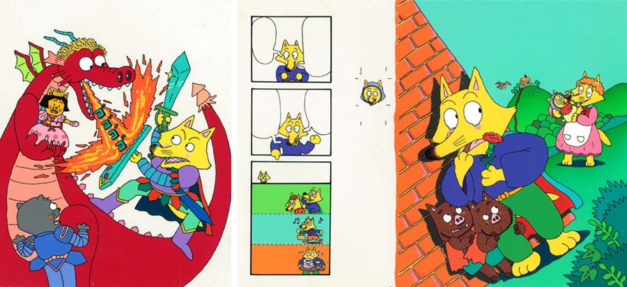 (左)「かいけつゾロリのドラゴンたいじ」1巻(1987年)、「かいけつゾロリのママだーいすき」9巻(1991年)©原ゆたか/ポプラ社