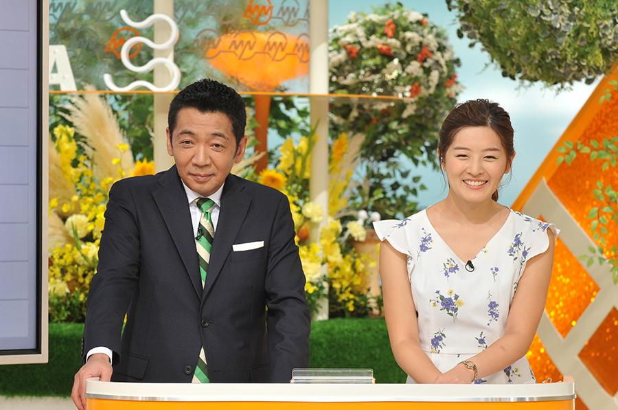 メインMCの宮根誠司と、夏休み中の林マオアナの代役・中村秀香アナ