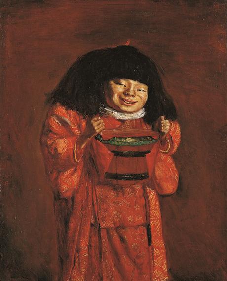 岸田劉生《野童女》1922年、神奈川県立近代美術館寄託