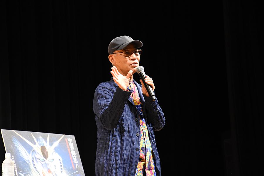 『機動戦士ガンダム 逆襲のシャア』上映会に登場した、富野由悠季監督(2日・奈良市内)