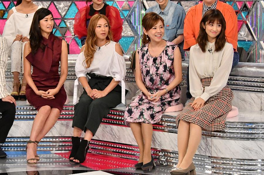 左から、森下千里、LINA(MAX)、高橋真麻、小倉優子