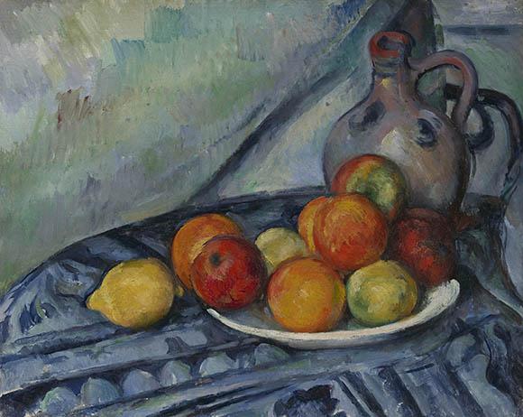 ポール・セザンヌ《卓上の果物と水差し》 1890–94年頃 32.4cmx40.6cm 油彩、カンヴァス Bequest of John T. Spaulding, 48.524