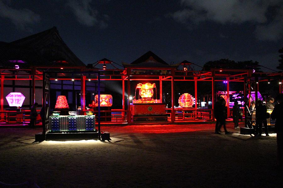 10月25日に開幕した『アートアクアリウム城〜京都・金魚の舞〜』(25日・京都市内)