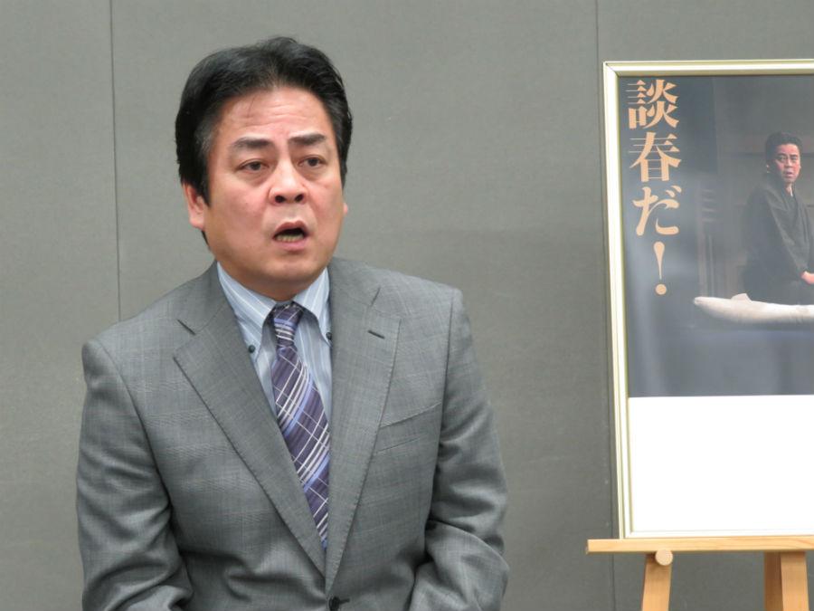 年末に大阪で恒例となる独演会をおこなう立川談春