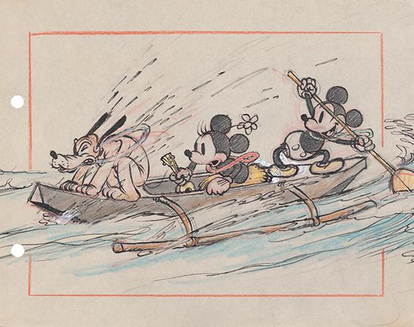 《ミッキーのハワイ旅行》より 1937年 ©Disney Enterprise, Inc.