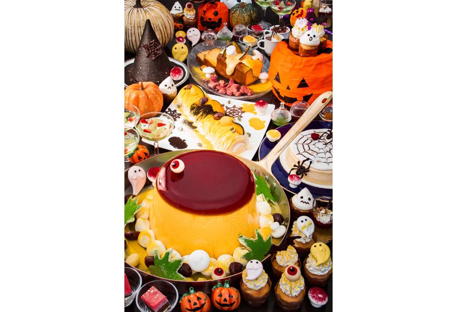 『アマデウス マルシェ〜きのことチーズの世界〜 』のデザートコーナーがハロウィンバージョンに