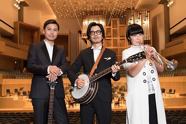 くるり(左から佐藤征史、岸田繁、ファンファン)
