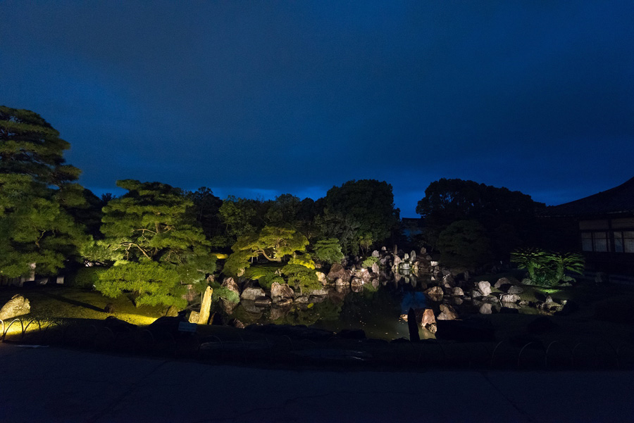 二の丸庭園ライトアップ(イメージ)